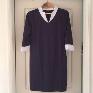 Dresses & Skirts - BNWoT Navy dress with white collar and cuffs